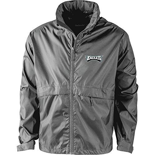 Dunbrooke Apparel NFL Philadelphia Eagles Men's 5490Sportsman Waterproof Windbreaker Jacket, Graphite, X-Large