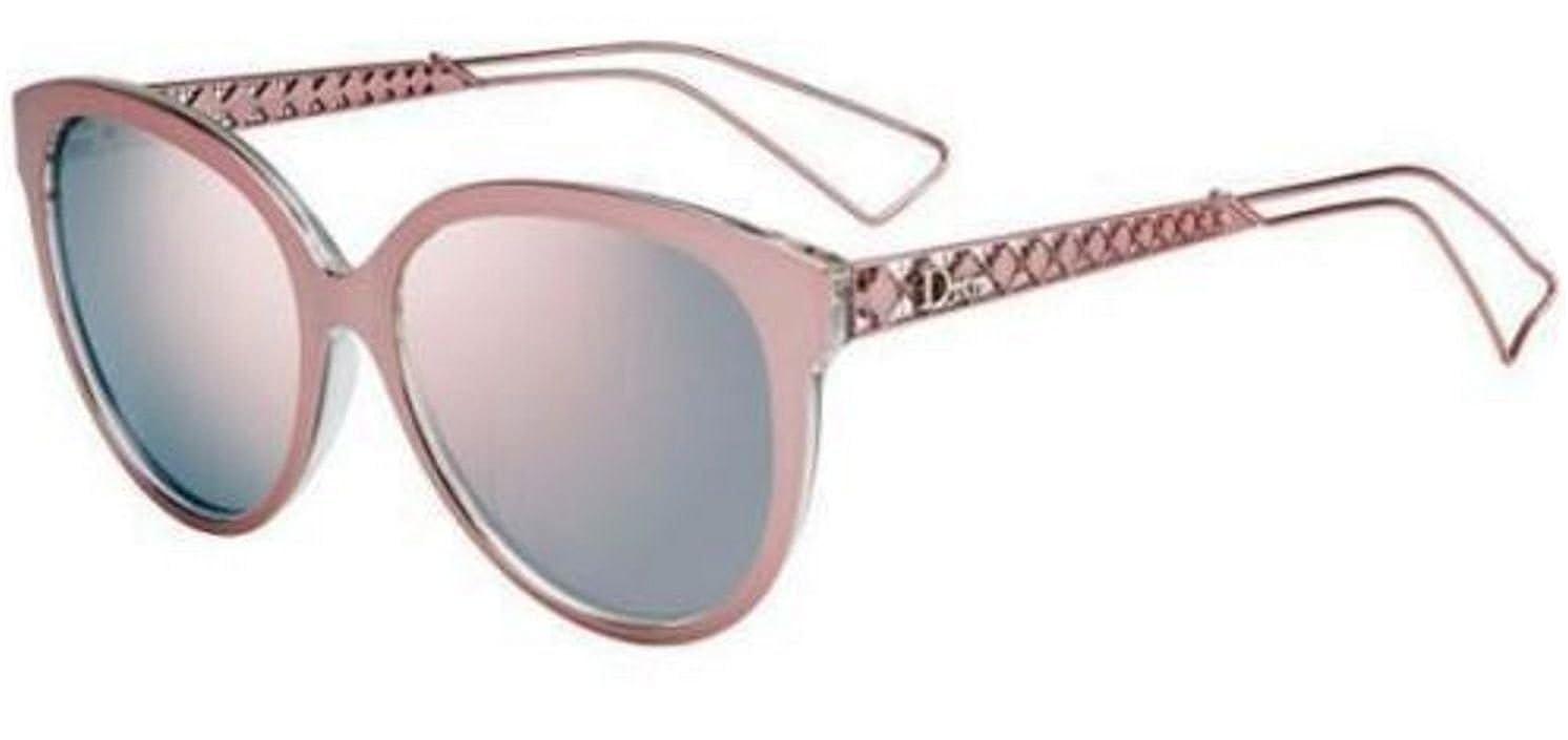 c96c1a86d7 New Christian Dior DIORAMA 2 S TGW OJ pink crystal gray rose mirror  Sunglasses  Amazon.co.uk  Clothing