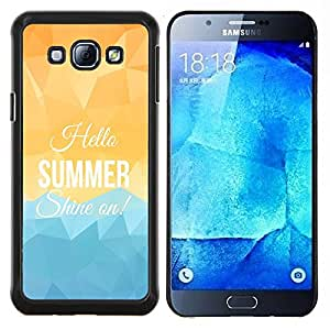 Dragon Case - FOR Samsung Galaxy A8 A8000 - summer shine on - Caja protectora de pl??stico duro de la cubierta Dise?¡Ào Slim Fit