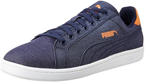 Denim Bleu peacoat Jeans Bleu Adulte Smash Mixte Basses Puma Baskets 01 Peacoat 4wq75cC