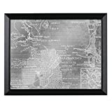Headwest San Francisco Map Mirror, 27 X 34''