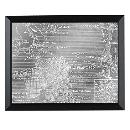 Headwest San Francisco Map Mirror, 27 X 34