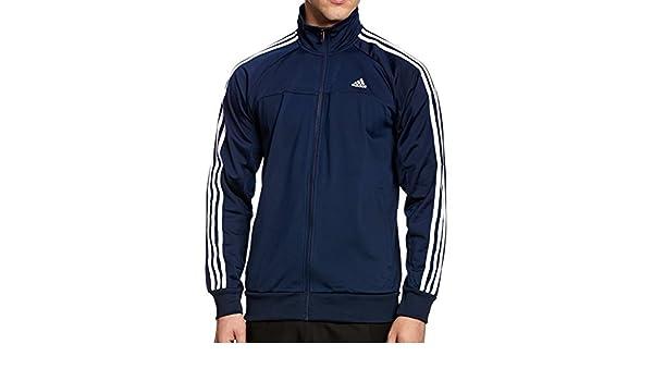 Adidas Chaqueta de Entrenamiento para Hombre 3 Rayas Azul/Blanco ...