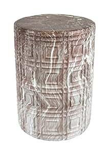 """sagebrook casa sagebrook home-ceramic jardín taburete, rosa mármol, 13""""x 13"""" x 18,5"""""""