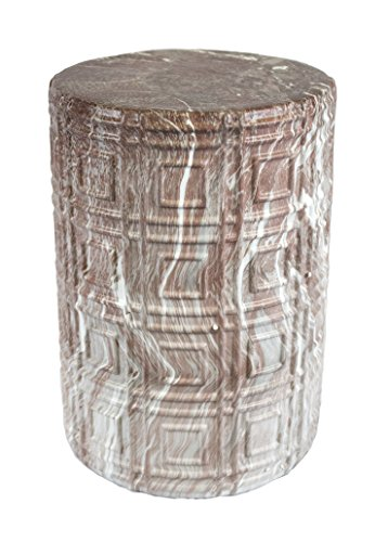 Sagebrook Home 11992 Ceramic Garden Stool, Rose Marble Ceramic, 13 x 13 x 18.5 Inches Rose Garden Stool