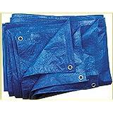 Bâche bleue 60g/m², 8x 12m tissus Bâche Bâche de protection Bâche à raccord universel