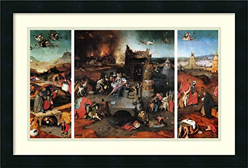 Framed Wall Art Print The Temptation of St Anthony by Hieronymus Bosch 26.00 x 17.62