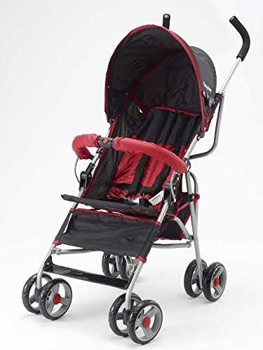 Big Oshi Baby Time Lexington Stroller, Black/Red by Big Oshi