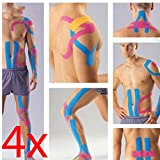 Set of 4 5M Kinesiology Tape Sports Kino Knee Body Muscle Support Pain Relief