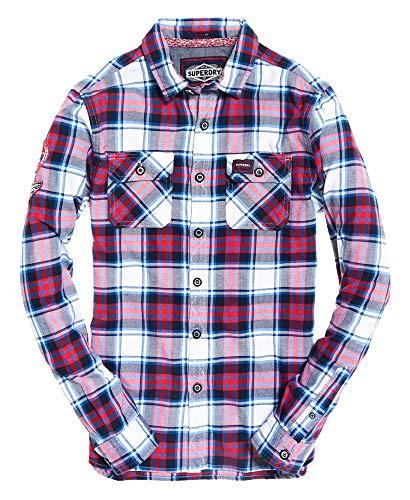 Mens Lumberjack Lite Shirt Desert White Check S