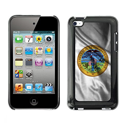 FJCases Iowa The Hawkeye State Waving Seal Flag Slim & Thin Hard Case Cover for Apple iPod Touch 4