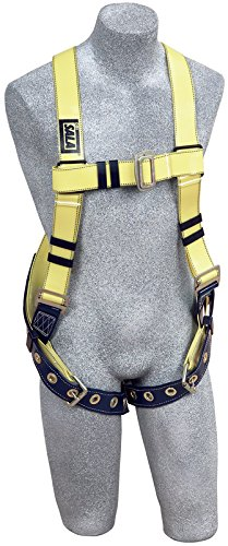 3M DBI-SALA 1110990 Delta Universal Back D-Ring with Resist Web and Tongue Buckle Leg Straps, Yellow by 3M Fall Protection Business (Image #3)