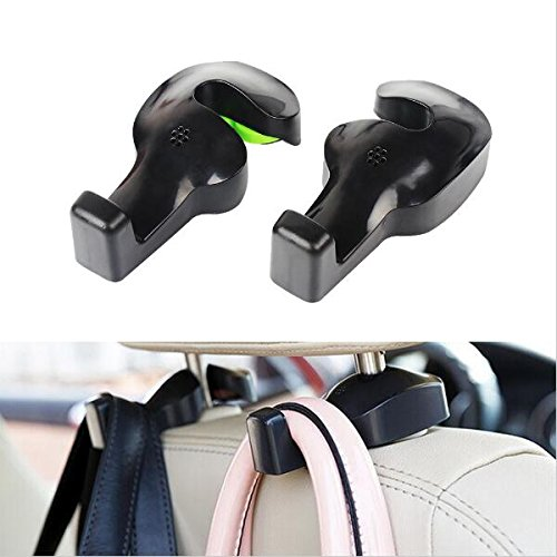 Price comparison product image Allfaco Universal Car Vehicle Back Seat Headrest Hanger Holder Hook for Bag Purse Cloth Grocery
