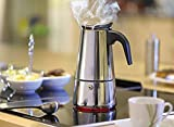 AMFOCUS Stovetop Espresso Maker Pot - Stainless Steel - 2 Servings