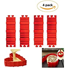 4PCS Xmatch Nonstick Silicone Cake Mold Cake Pan- Premium Magic Bake Snake- DIY Baking Mould Tools - Design Any Shape For Your Cakes