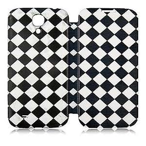 MOFY-Cuero del patr—n de caso completo geomŽtrico blanco y negro del cuerpo para Samsung Galaxy S4 i9500