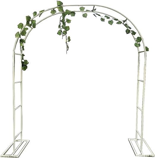 XLOO Arco para Plantas trepadoras, Arco de jardín, cenador de jardín, Blanco, Metal, con Marco de Soporte, Varios tamaños, decoración de Ceremonia de Fiesta de Arco de Boda: Amazon.es: Hogar