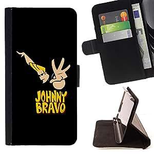 - Johnny B Cartoon - - Prima caja de la PU billetera de cuero con ranuras para tarjetas, efectivo desmontable correa para l Funny HouseFOR Samsung Galaxy Note 4 IV