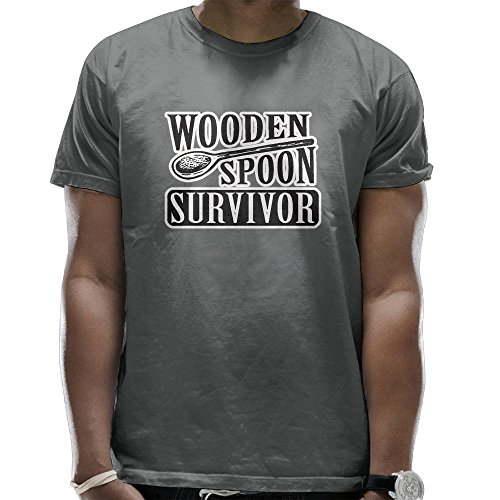 Survivor Light T-shirt (Mens Wooden Spoon Survivor Soft Short Sleeve T-Shirt For Sports Hiking Jogging Jersey Tee Shirt)