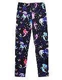 Jxstar Girls Pants Starry Unicorn Printed Trousers Ankle Length Basic Leggings Starry Unicorn 160