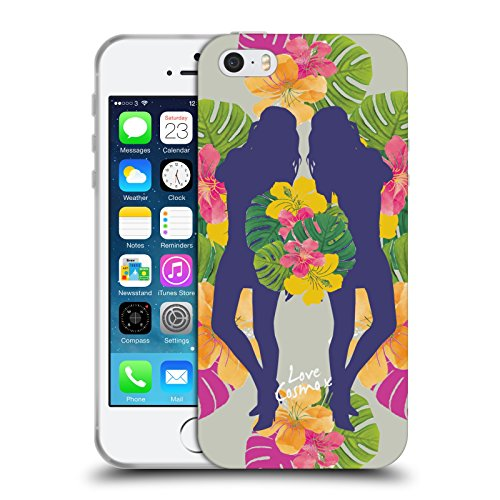 Official Cosmopolitan Mirrored Tropical Soft Gel Case for Apple iPhone 5 / 5s / SE