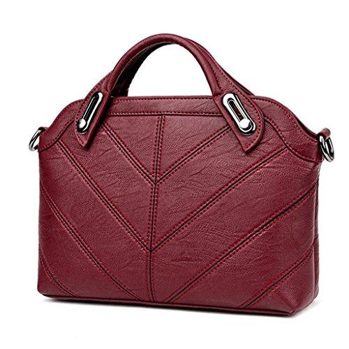 wine lavoro pecora NVBAO pelle colori tracolla borsa pink a della Borse Moda semplice diagonali Donne Shopping Pacchetti singola di red trasversali Sei qq0wrRUz
