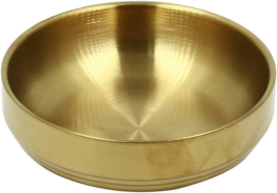 Sevenfly Dip Sauce Dishes Gold 9cm Dip Schalen Edelstahl Home Round Tableware Sojasauce Dip Schalen