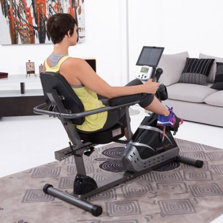 Fitness Reality R8000 High-Capacity Programmable Recumbent Exercise Bike with Air Tech Seat
