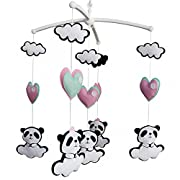 Colorful Decor Toy, Musical Mobile, [Panda] Hanging Crib Toy