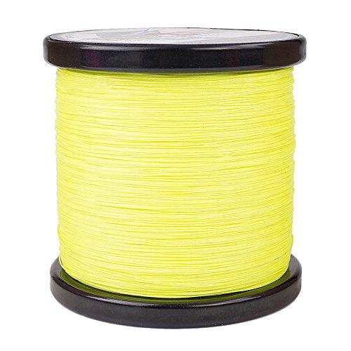 HERCULES Braided Fishing Line 2000m 2187yds 10lbs-200lbs Pe Superline 8 Strands (Fluorescent Yellow 50lb/22.7kg 0.37mm)