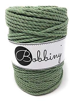 Bobbiny Oeko-Tex Premium Makramee Garn aus recycelter Baumwolle in Peacock Blue 5 mm x 100 m