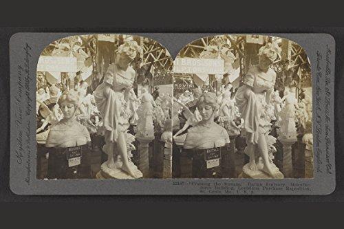 Photo Print 8x12: Crossing The Stream, Italian Statuary, Manufactures - Crossing Keystone