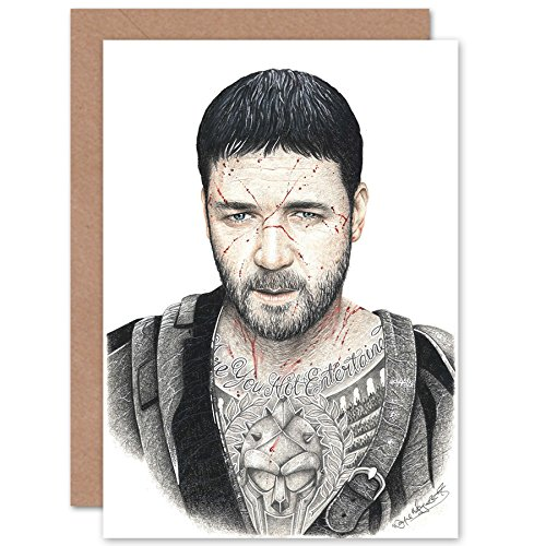 Wee Blue Coo Wayne Maguire Tattooed Gladiator Maximus Inked Ikon Greetings Card