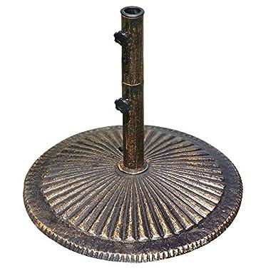 80-lb Classic Cast Iron Umbrella Base in Bronze