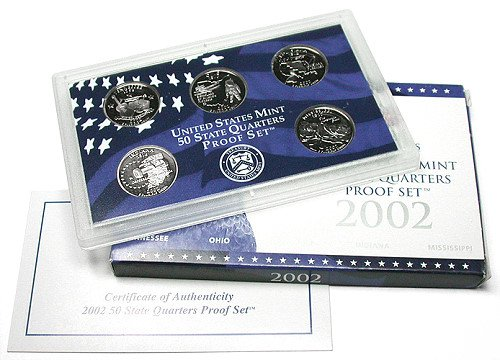 2002 S UNITED STATES MINT STATE QUARTER PROOF SET PROOF