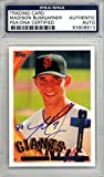 Madison Bumgarner Autographed 2010 Topps Rookie Card #105 San Francisco Giants PSA/DNA #83908813