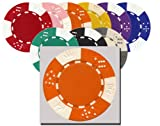 Da Vinci 50 Clay Composite Triple Crown 11.5-Gram Poker Chips (Orange)
