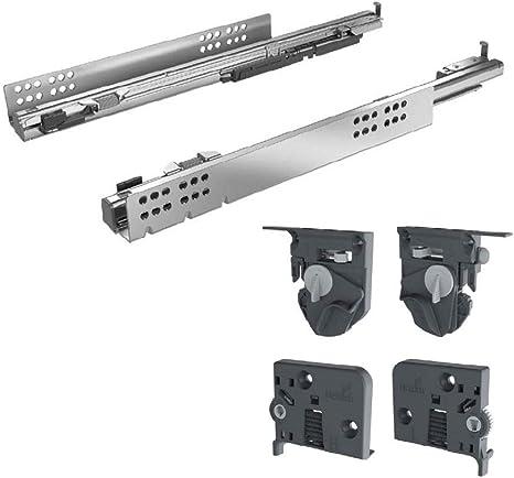 400 mm Hettich Vollauszug Quadro V6 mit Silent System f/ür Holzschubk/ästen NL