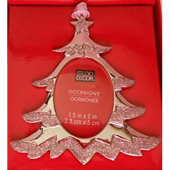 studio decor christmas tree christmas photo frame ornament metal