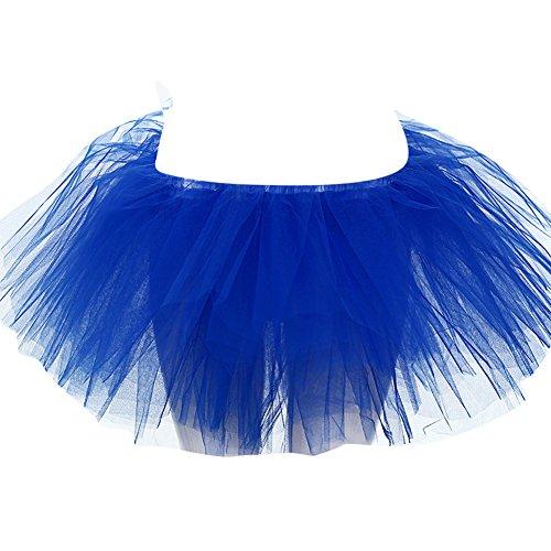 SaiDeng Pliss Taille Bouffe Jupe Saphir Bleu Ballet Tutu Ballerine Danse Jupe Femme Mini Unique Tulle rwIZF4rq