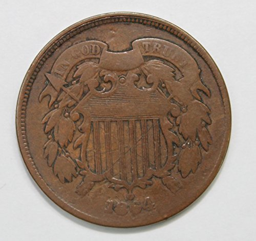 1864 Shield Two Cent Piece 2c Good