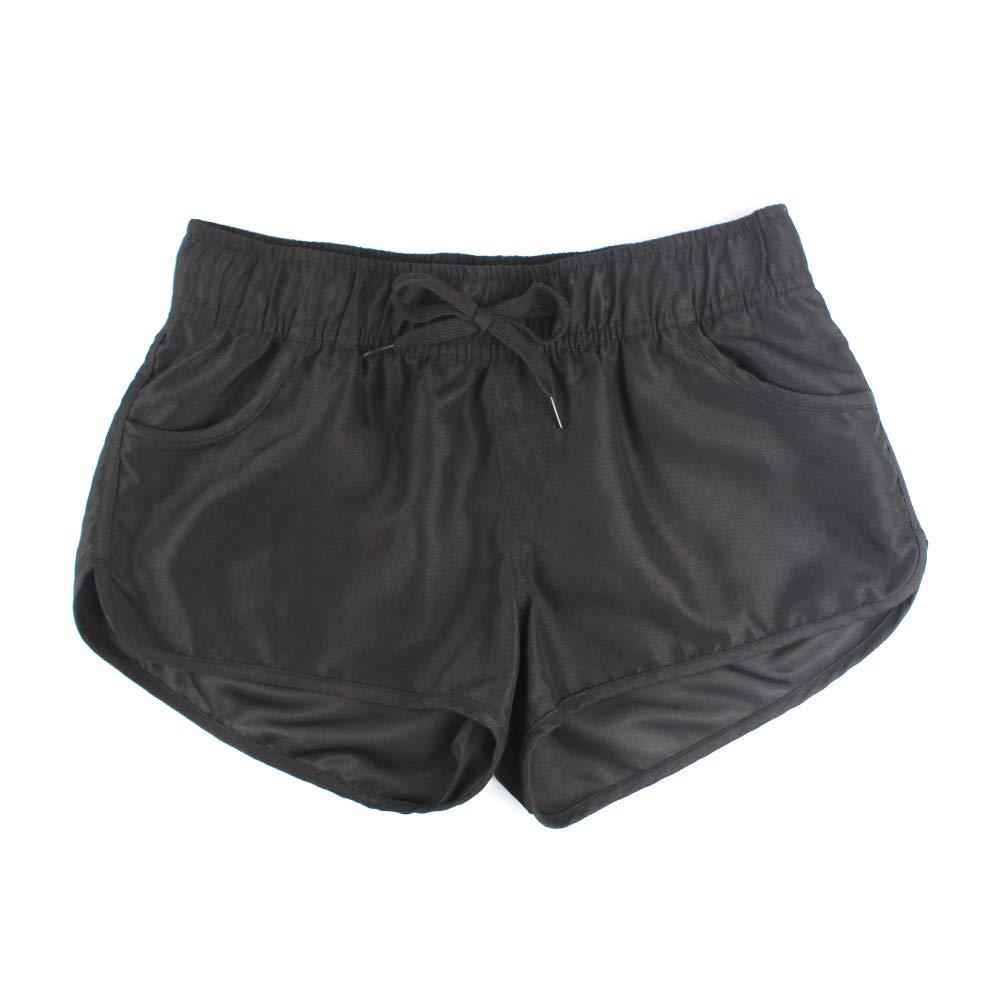 LACOFIA Damen Strand Shorts Damen Einstellbar Kordelzug Sommer UV Schutz Bodeshorts Schnelltrocknend Schwimmen Badehose