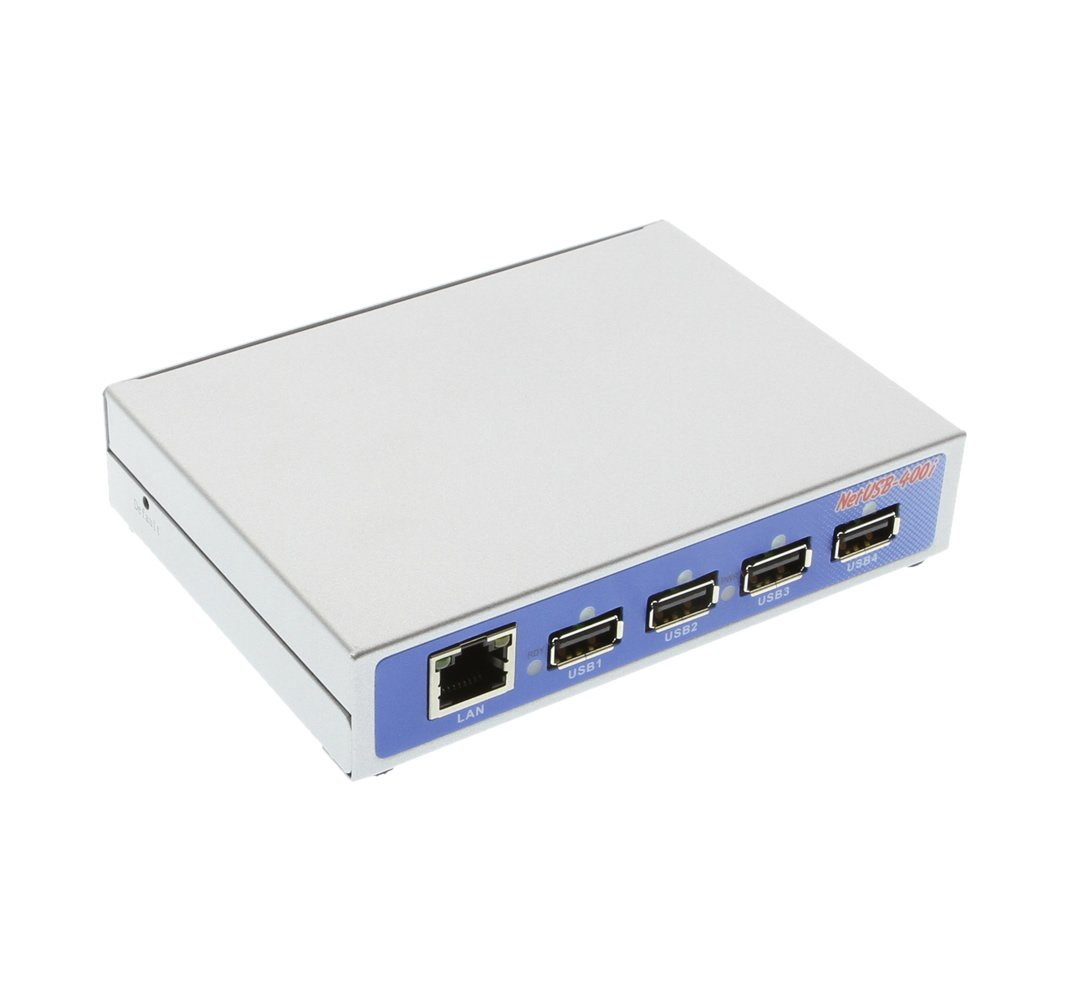 Coolgear Industrial USB 2.0 Over IP Network 4-Port Hub, Share any USB Device Over TCP/IP Network by CoolGear