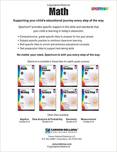 Spectrum Math Workbook, Grade 8: Spectrum: 0044222238599: Amazon ...