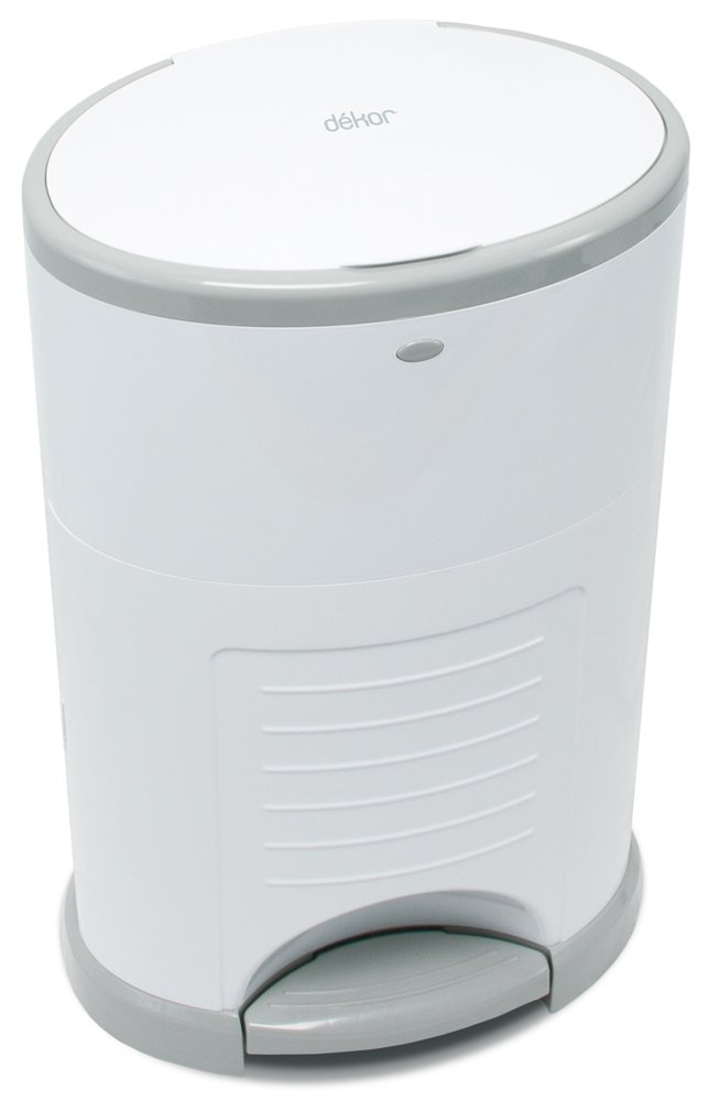 Dekor Mini Hands-Free Diaper Pail | Easiest to Use | Just Step – Drop – Done | Doesn't Absorb Odors | 20 Second Bag Change | Most Economical Refill System | White by DEKOR (Image #10)