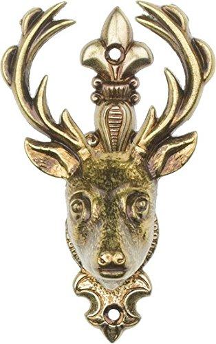 Old West Deer Head Gun Hangers (Set of 2)