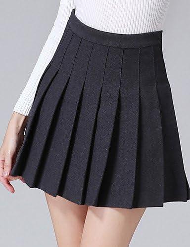 DRESS ZLL Mujer Faldas,Columpio Un Color Plisado,Sencillo Chic de ...