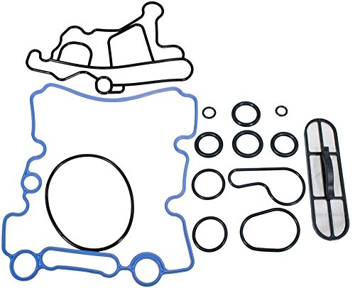 APDTY 133924 Engine Oil Cooler Gasket & Oil Screen Filter Kit Fits 2003-2010 Ford 6.0L Diesel (Replaces 3C3Z-6C683-AB, 3C3Z-6A642-CA, (Oil Cooler Screen)