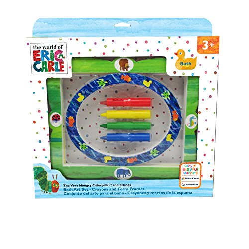 (World of Eric Carle, The Very Hungry Caterpillar Create and Frame Bath Set & Crayons)