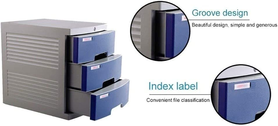 Bxwjg Flat File Cabinet with Lock//Blank Label,Suitable for Office Supplies Large 3-Layer Drawer Storage Organization